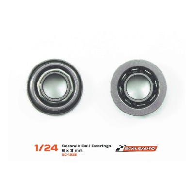 Ceramic ball bearing 6x3 mm.