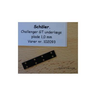 Challenger GT underlægs plade 1,0mm