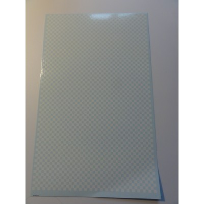 Chequered  Pattern hvid og klar