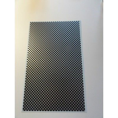 Chequered pattern black og silver