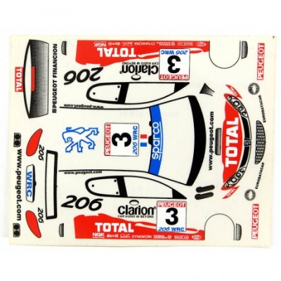 1/32 Peugeot Total Decals