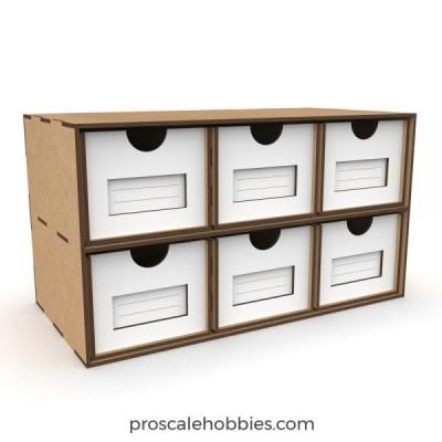 Standard drawers 2x3.