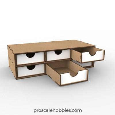 Low drawers 2x3.