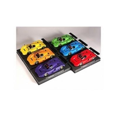 6 biler i 6 forskellige farver