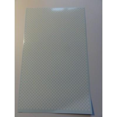 Chequered  Pattern hvid og...