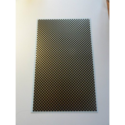 Chequered patten black og gold