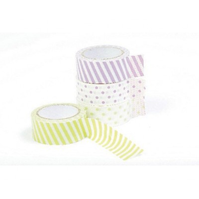 15 mm Masking tape med prik/strip