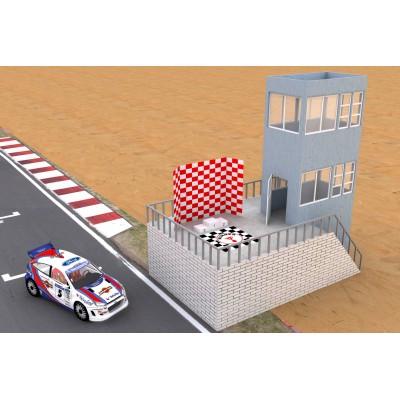 Race tower med vinder podium